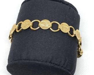 Vintage Sarah Cov. Bracelet, 80's, gold tone $18