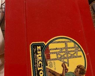 Vintage 1930s Metal toy erector set Looks new $95