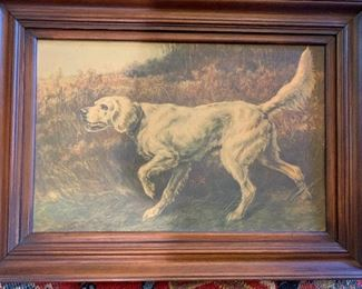 'A Setter'', signed lower left: E.H. Osthaus, watercolor on colored paper under glass, sight size: estimate $700/900,—- $100