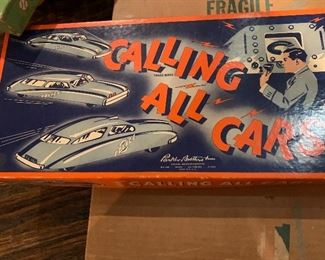 Vintage, old Parker Brothers game, Calling All Cars.  ENJOY even Frame the box, it is great box art. Like new $20