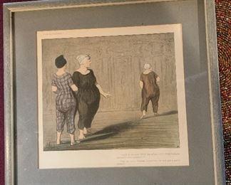 "All The Same, Madame Coquardeau Has Still Got A Pretty Figure."" Lithograph 1904"