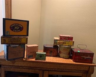Nicely priced Early 1900s antique Tobacco boxes