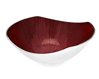 The Simplydesignz Bodoni Bowl adds rich color to your table and chic, modern design to your décor. This fabulous piece pairs a hand-polished aluminum outside