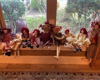 1920s to 1950s rag dolls
