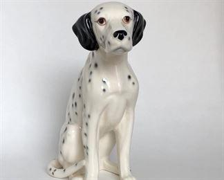 "Dalmatian Dog Figurine Vintage Ceramic Animal Figurine 10.25"" Ceramica de Cuernavaca Pottery Mexico 1988   $15"