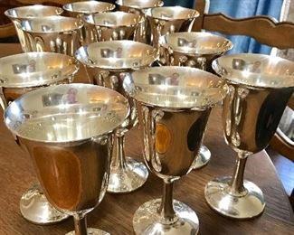 "**STERLING WILL NOT BE KEPT ON SIGHT UNTIL THE DAY OF THE SALE**.     QTY 12 Wallace ""#14"" Sterling Goblets"