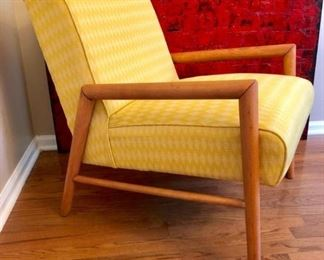 Vintage Conant Ball by Leslie Diamond yellow chair