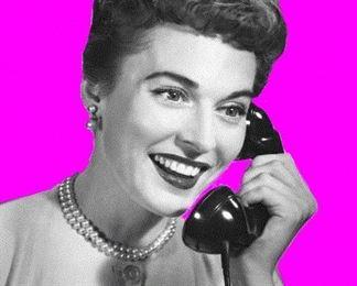 Vintage Woman On Phone