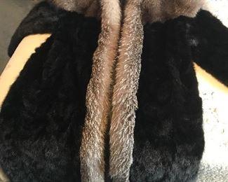 Silver fox/mink coat