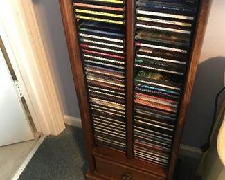 CDs & CD tower