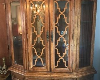 Gorgeous china cabinet/hutch.  Good size.