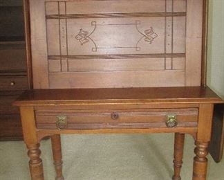 Antique secretary - see next pic; This old piece was used at the train station in ???.