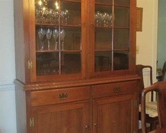 $1095 - Hand made dining room cabinet by Joe Howerton of Howerton Reproductions of Virginia in 1950-