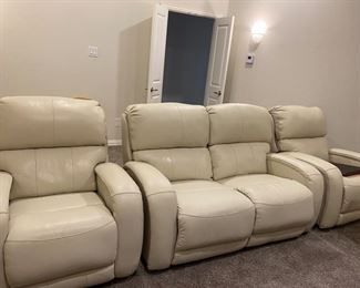 2 Theater Chairs and 1 Theater Loveseat