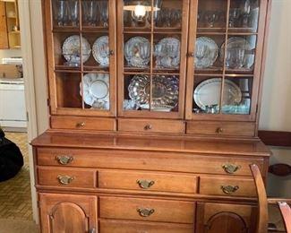 #11Pennsylvania House China Cabinet  10 drawer & 2 doors  (2 pcs.)  54x20x35-74 $250.00