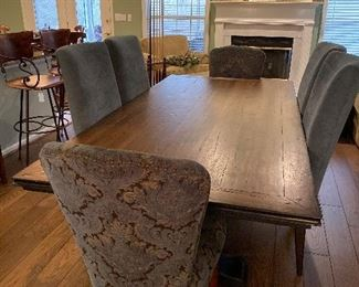Arhaus dining table and chairs