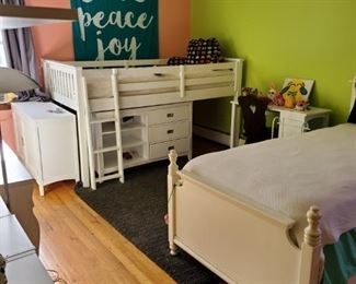 Kids captain bed white wood