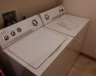 Nice whirlpool washer & dryer.