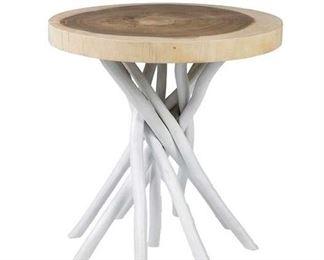 Loon Peak Stilwell Solid Wood Tree Stump End Table