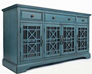 """Mistana Antique Blue Daisi Tv Stand For Tvs Up To 65"""""""