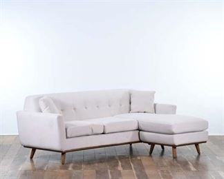 Contemporary Mid Century Style Sectional Sofa