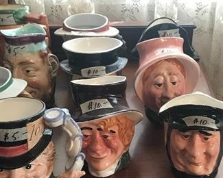 Toby mugs by Royal Doulton