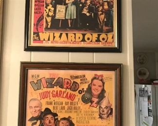 Movie theater lobby cards for Wizard of Oz