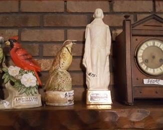 Decanters and mantle clock