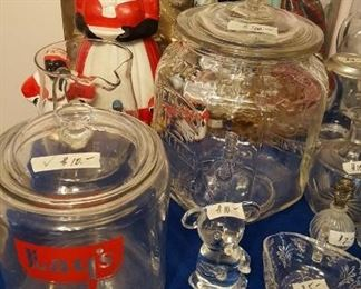 Lays & Planaters jars, Mammy's, Barbies