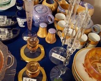 Lusterware tea set
