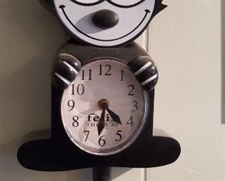 Felix the cat clock