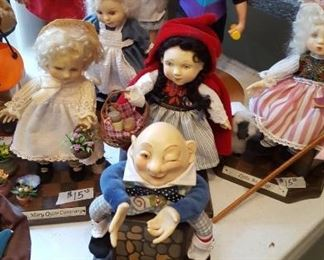 Collectible Nursery Rhyme dolls