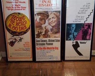 Some of the many movie posters