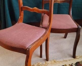 Two of six chairs