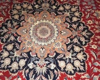 "Tabriz Persian Hand knotted 100% Wool  (just cleaned) approx. 13'.6"" x 10'"