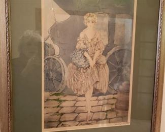 Original Print signed by Louis Icart