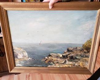 Original Oil Seascape by Frances Brewater