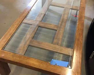 glass coffee table (Broken glass)