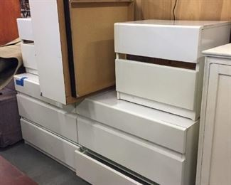 white dresser set. (Only one nightstand available)