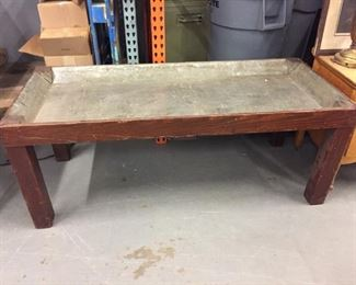 metal lined table