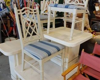 faux bamboo chairs