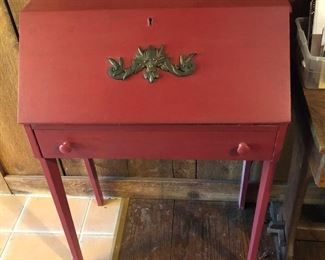 Antique Red Writing Desk