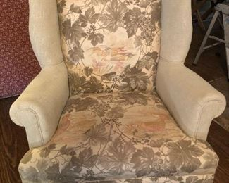Beautiful Pair of  Queen Anne Revival Wing Back Chairs