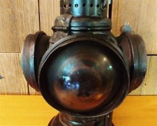 Antique RR Adlake Lamp Lantern 4 Way Railroad Switch Signal Train Vintage light