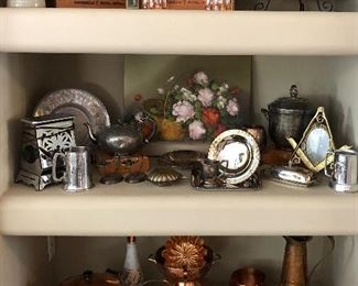 Assorted Copper, Silverplate, Art and more...