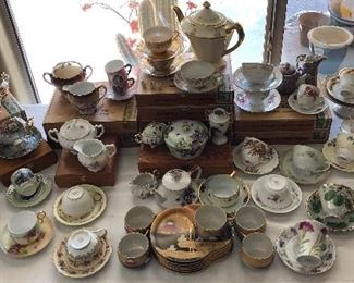 Assorted Cups & Saucers