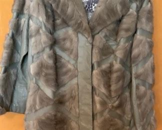 Gorgeous Vintage Stanley Fur w Leather Inlay