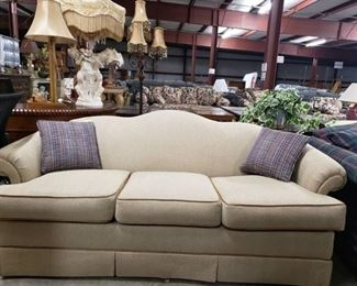 Very Clean -Smoke Free -Pet Free Small Creme Couch