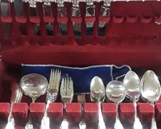 60 plus Pieces of Reed and Barton Sterling Silver Flatware
