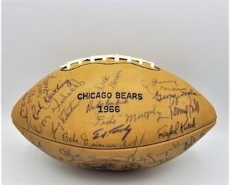 Team signed football